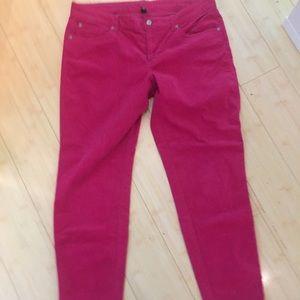 Gap size 12 pink skinny corduroys